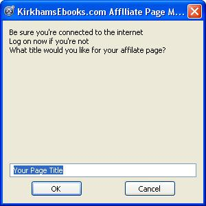 Free Affiliate Package for Affiliate Page Maker screenshot